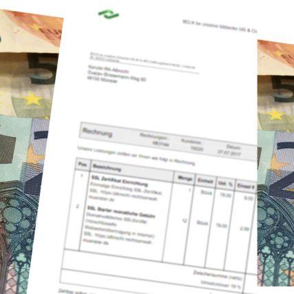 Hnadwerker Rechnungs Service Rechnung stellen Geld in 24 Stunden auf dem Konto